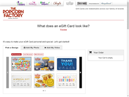The Popcorn Factory gift card purchase