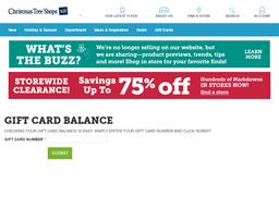 Christmas Tree Shops gift card balance check