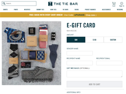 The Tie Bar gift card purchase