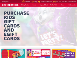 Chuck E. Cheese's gift card purchase