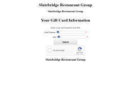 The White Chocolate Grill gift card balance check