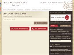 The Woodhouse Day Spa gift card balance check