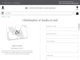 Christopher and Banks gift card balance check