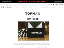 Topman gift card purchase