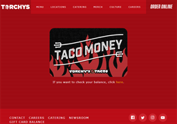 Torchy's Tacos gift card purchase