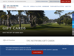 TPC gift card purchase