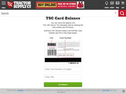 Tractor Supply Company gift card balance check