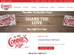 Connie's Pizza gift card purchase