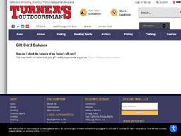 Turner's Outdoorsman gift card balance check