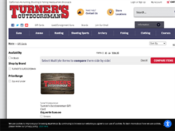 Turner's Outdoorsman gift card purchase