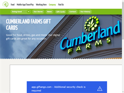 Cumberland Farms gift card purchase