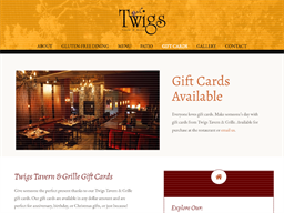 Twigs Tavern & Grille gift card purchase