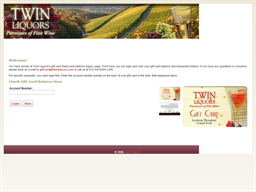 Twin Liquors gift card balance check