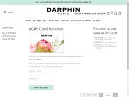Darphin gift card balance check