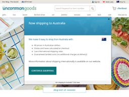 Uncommon Goods shopping