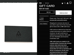 UNIF gift card purchase
