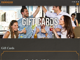 View House gift card balance check