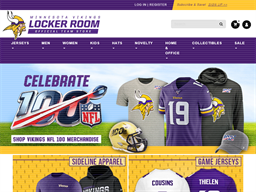 Vikings Locker Room shopping