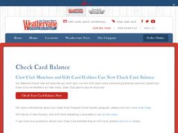 Weathervane gift card balance check