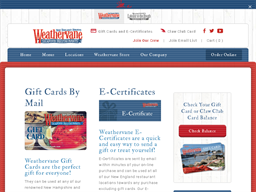 Weathervane gift card purchase