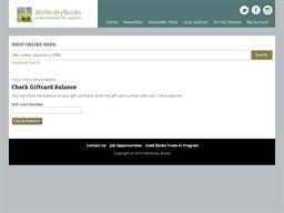 Wellesley Books gift card balance check