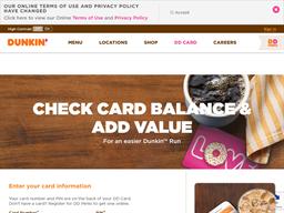 Dunkin Donuts gift card balance check