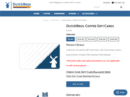 Dutch Brothers Coffee gift card purchase