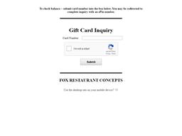 Wildflower American Cuisine gift card balance check