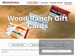 Wood Ranch gift card purchase