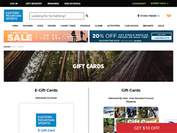Eastern Mountain Sports gift card purchase