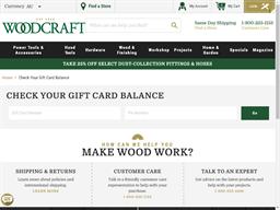 Woodcraft gift card balance check
