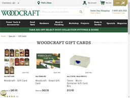 Woodcraft gift card purchase