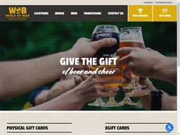 World of Beer gift card purchase