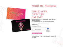 Accessorize gift card balance check