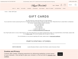 Agent  Provocateur gift card balance check