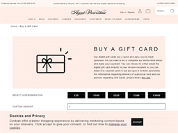 Agent  Provocateur gift card purchase