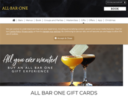 All Bar One gift card purchase