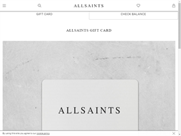 AllSaints gift card purchase