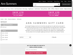 Ann Summers gift card purchase
