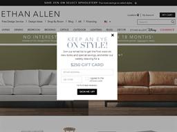 Ethan Allen shopping