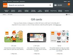 B&Q gift card purchase