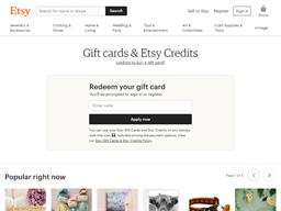 Etsy gift card balance check