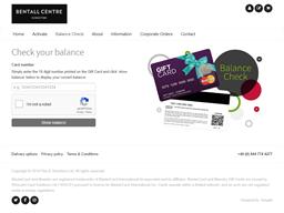 Bentall Centre gift card balance check