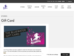 Bluewater gift card purchase
