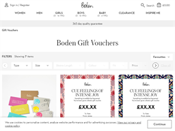 Boden gift card purchase