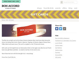 Bon Accord Aberdeen gift card purchase