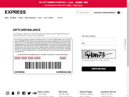 Express gift card balance check