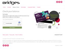 The Bridges Shopping Centre gift card balance check