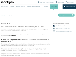 The Bridges Shopping Centre gift card purchase