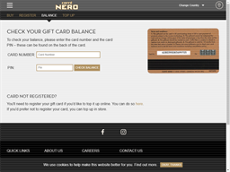 Caffe Nero gift card balance check
